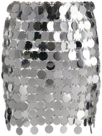 Silver Paco Rabanne mirror disc skirt - Farfetch