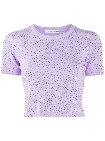 Alice+Olivia Ciara crystal-embellished Knitted Top - Farfetch