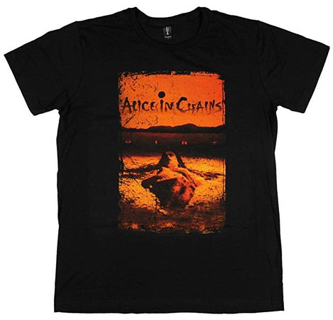 Amazon.com: Alice in Chains Dirt Men's Shirt Black: Clothing