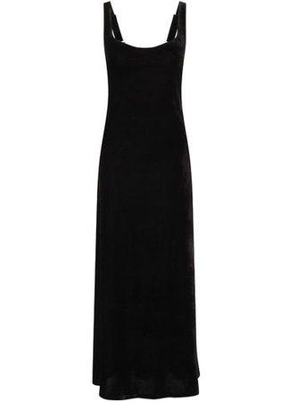 SHOP :: Ladies :: Dresses :: Necessary Evil Venus Long Black Velvet Maxi Dress