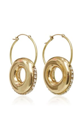 Infinity Donut Brass Earrings by Ellery   Moda Operandi