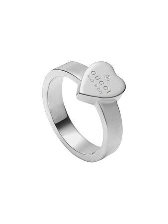 Silver Heart Ring With Gucci Trademark | Farfetch.com