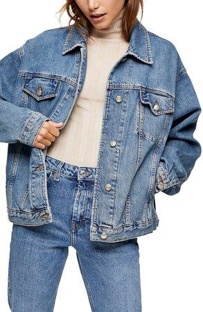 Topshop Oversize Denim Jacket | Nordstrom
