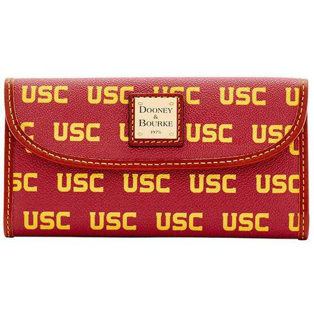 Women's Dooney & Bourke USC Trojans Team Color Continental Clutch | Official USC Trojan Athletics Store