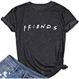 Amazon.com: ZSIIBO Women's Friends I'll Be There for You T Shirt Funny Letter Print Graphic Tees Cute Tops for Teen Girls TX12 (XL, Graphic 1): Clothing