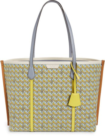 Perry Printed Canvas Tote