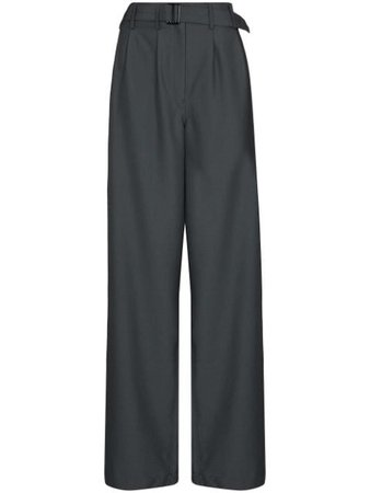 Shop Lemaire high-waist wide-leg trousers with Afterpay - Farfetch Australia