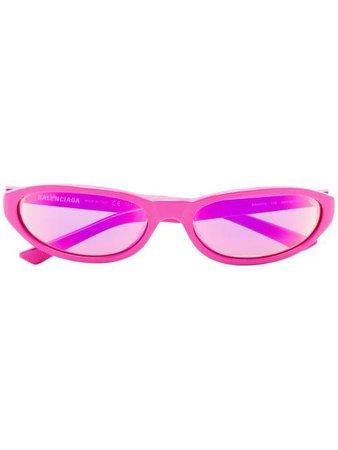 Balenciaga Eyewear Pink oval sunglasses