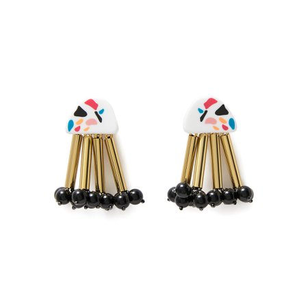 White resin long earrings   BIMBA Y LOLA ®