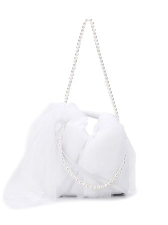 White MM6 Maison Margiela tulle detail tote - Farfetch