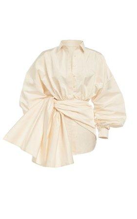 Silk Bow Mini Dress By Khyeli | Moda Operandi