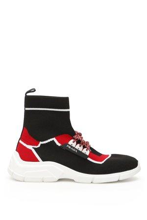 Prada Hi-top Knit Sneakers