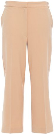 Cropped Woven Straight-leg Pants