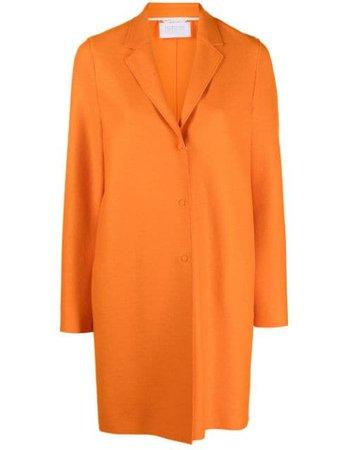 Harris Wharf London cocoon coat orange A1301MLX - Farfetch