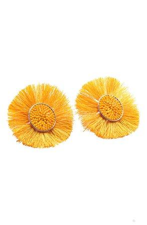 yellow daisy earrings