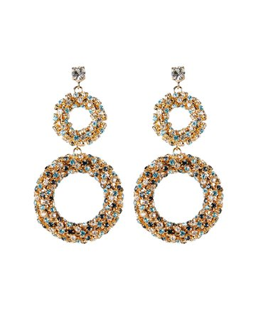 Caos Crystal Ring Drop Earrings