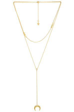 Crescent Diamante Layered Necklace
