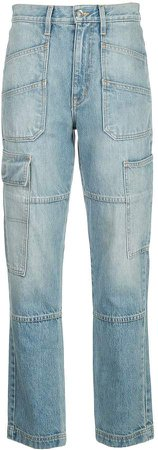Slvrlake high rise panelled leg jeans