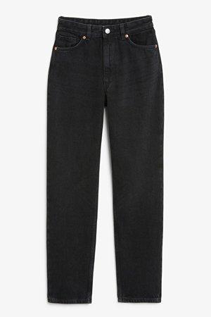 Taiki black tall jeans - Black - Jeans - Monki WW