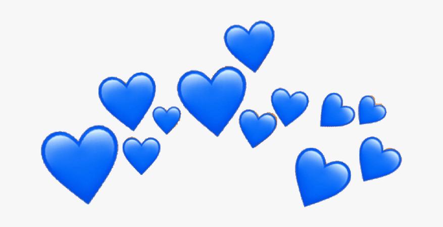 Blue Aesthetic Heart Crown