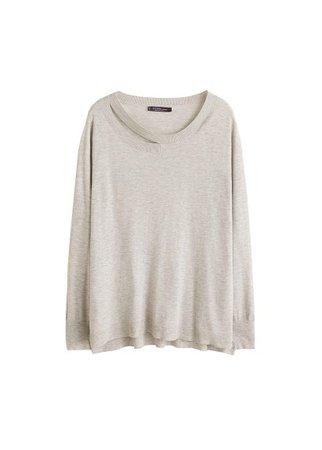 Violeta BY MANGO Front slit sweater