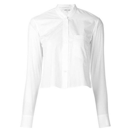 Cropped White Button Up Shirt