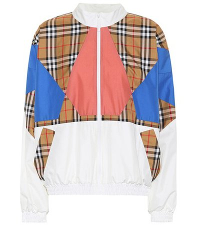 Vintage Check silk jacket