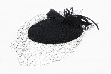 Fascinator Hat Black - Fedora Hats - Hats