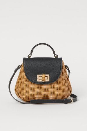 Rattan Shoulder Bag - Beige - Ladies | H&M US