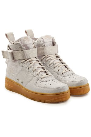SF Air Force 1 High Top Sneakers with Leather Gr. US 6
