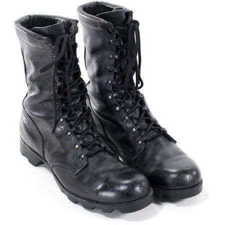 men's black combat boots