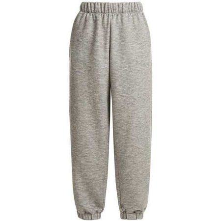 Raey Cashmere-blend track pants (21.460 RUB) ❤ liked on Polyvore featuring activewear, activewear pants, pants, bottoms, sweatpants, grey, elastic cuff sweatpants, gray sweatpants, grey sweatpants and