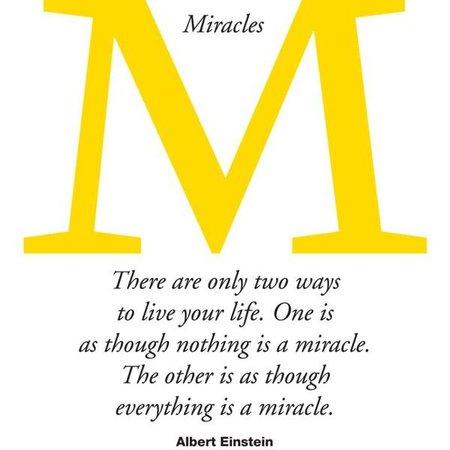 Einstein Miracle Quote Text