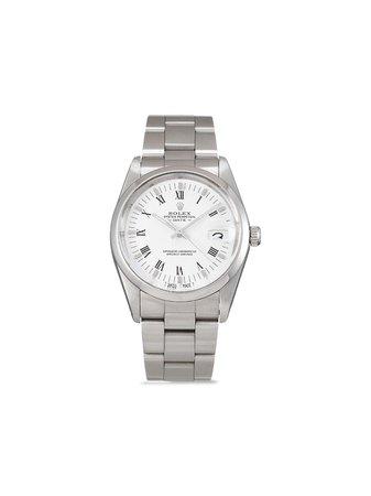 Rolex Pre-Owned Oyster Perpetual Date 34 Mm Klocka Från 1988 - Farfetch