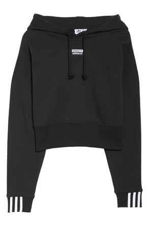 adidas Originals Vocal Crop Hoodie black