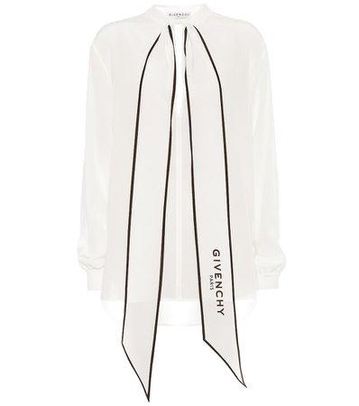 Givenchy - Silk-georgette blouse | Mytheresa