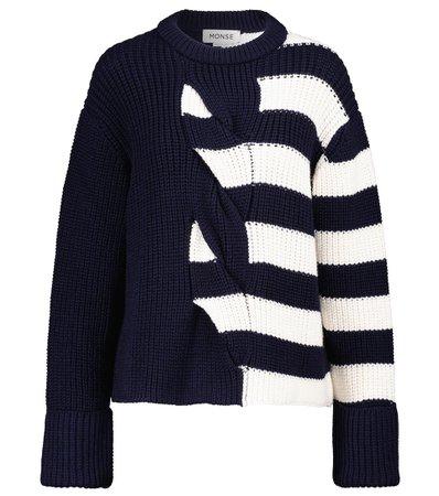 Monse - Striped merino wool sweater | Mytheresa