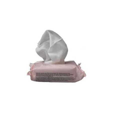 wet wipes in a pastel pink container