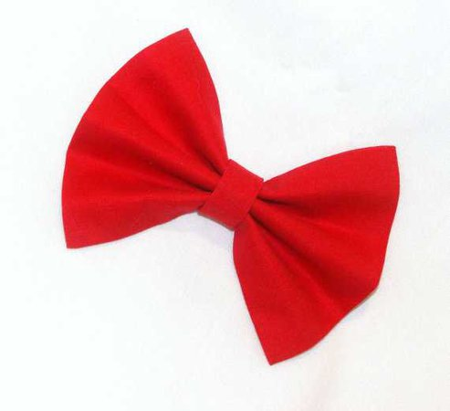 Red Hair Bow Vintage Inspired Hair Clip Rockabilly Pin up Teen