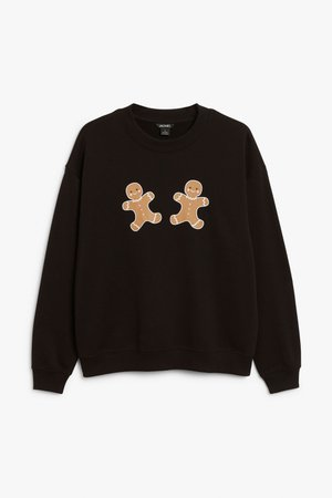 Christmas sweater - Gingerbread person print - Christmas jumpers - Monki