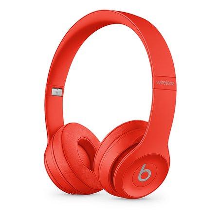 Beats Solo3 Wireless Headphones - Red - Apple
