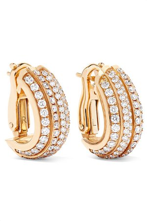 Piaget | Possession 18-karat rose gold diamond hoop earrings | NET-A-PORTER.COM