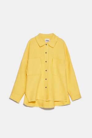 TWEED JACKET WITH POCKETS | ZARA United States yellow