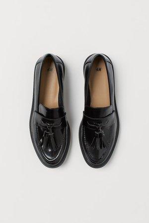 Tasselled loafers - Black - Ladies | H&M IN