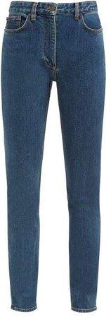 Kate High Rise Slim Leg Jeans - Womens - Blue