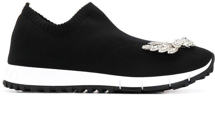 Verona crystal-embellished slip-on sneakers