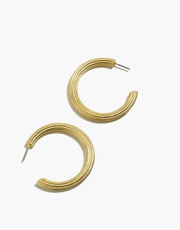 Ribbed Large Hoop Earrings