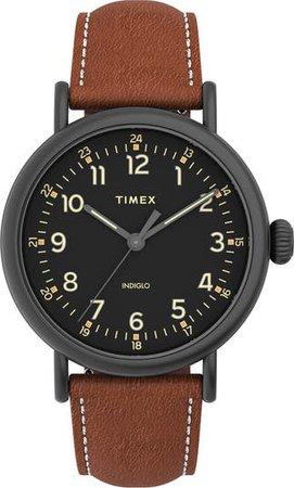 Standard Leather Strap Watch, 40mm | Nordstrom