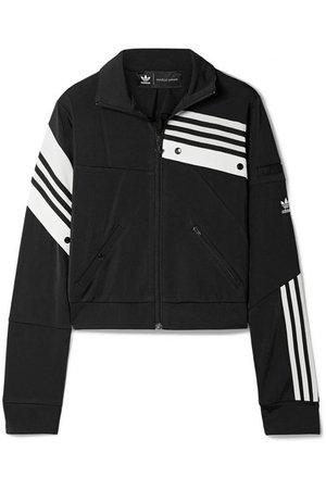 adidas Originals | + Daniëlle Cathari snap-embellished patchwork jersey track jacket | NET-A-PORTER.COM