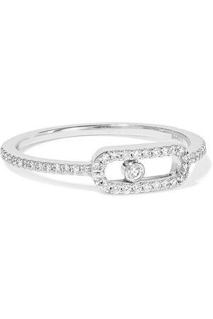 Messika | Move Uno Ring aus 18 Karat Weißgold mit Diamanten | NET-A-PORTER.COM
